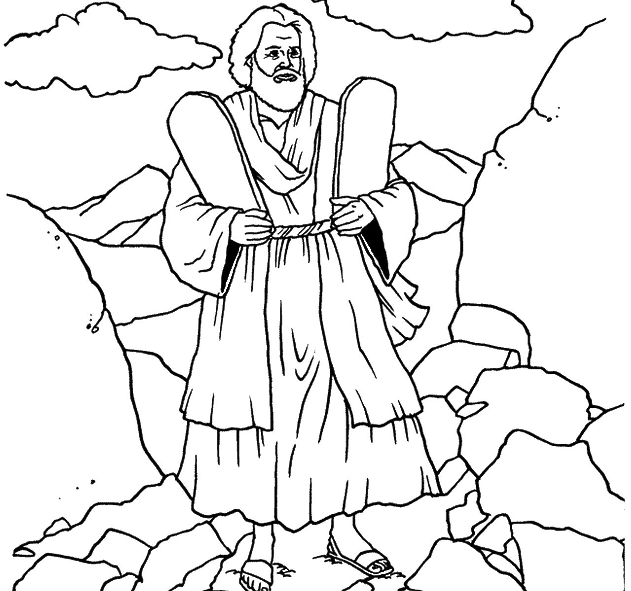 Tens Coloring Sheet Best Of Free Printable Moses Pages Catholic - Free Printable Ten Commandments Coloring Pages
