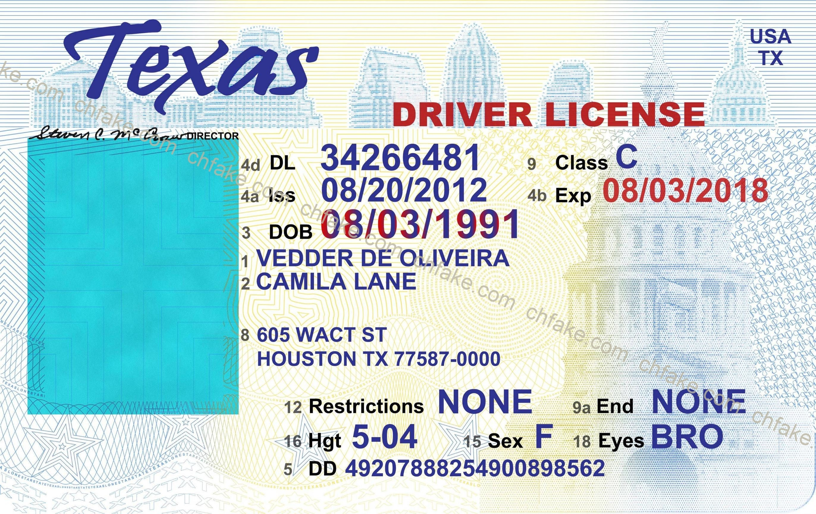 Texas Drivers License Template - Beepmunk - Free Printable Fake Drivers License