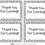 Thank You For Coming Free Printable Tags | Free Printable   Free Printable Thank You Tags For Birthday Favors