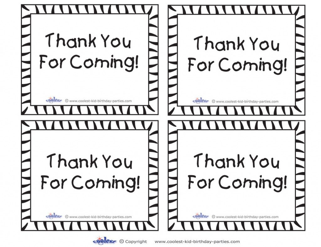 Thank You For Coming Free Printable Tags | Free Printable - Free Printable Thank You Tags For Birthdays