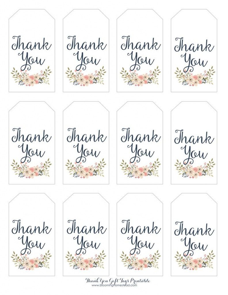 Thank You For Coming Free Printable Tags | Free Printable - Free Printable Thank You Tags Template