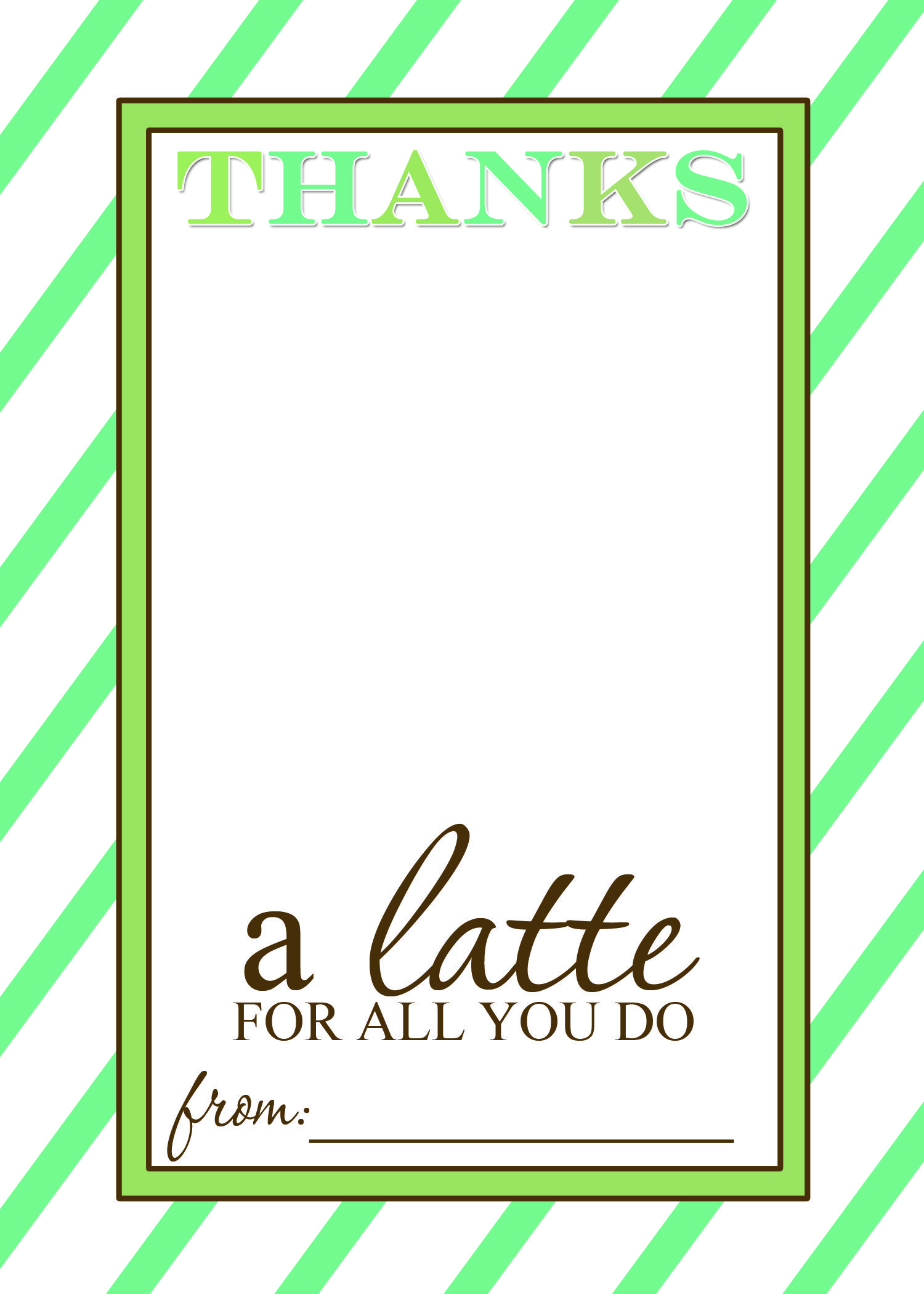 Thanks A Latte Free Printable Gift Card Holder Teacher Gift | Craft - Thanks A Latte Free Printable