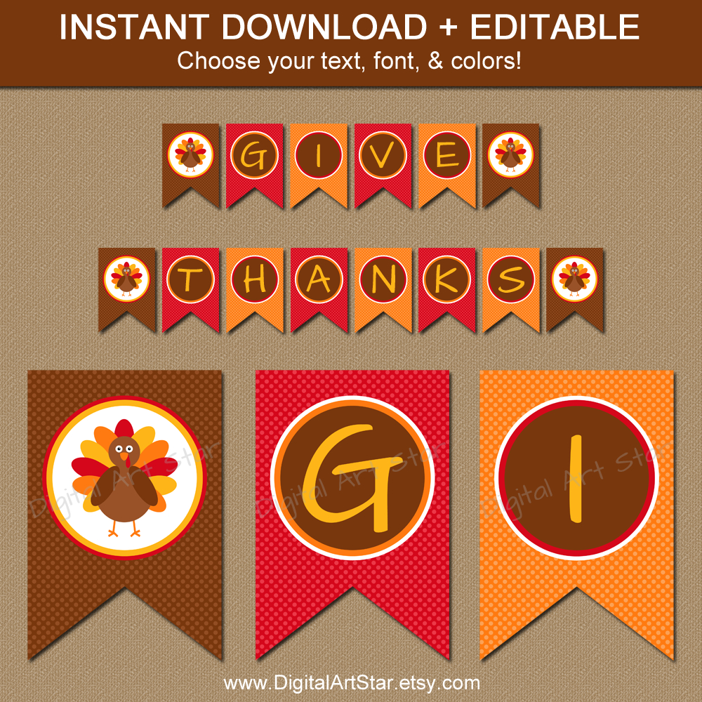 Thanksgiving Banners Printable Happy For Church - Happy Thanksgiving - Free Printable Happy Thanksgiving Banner