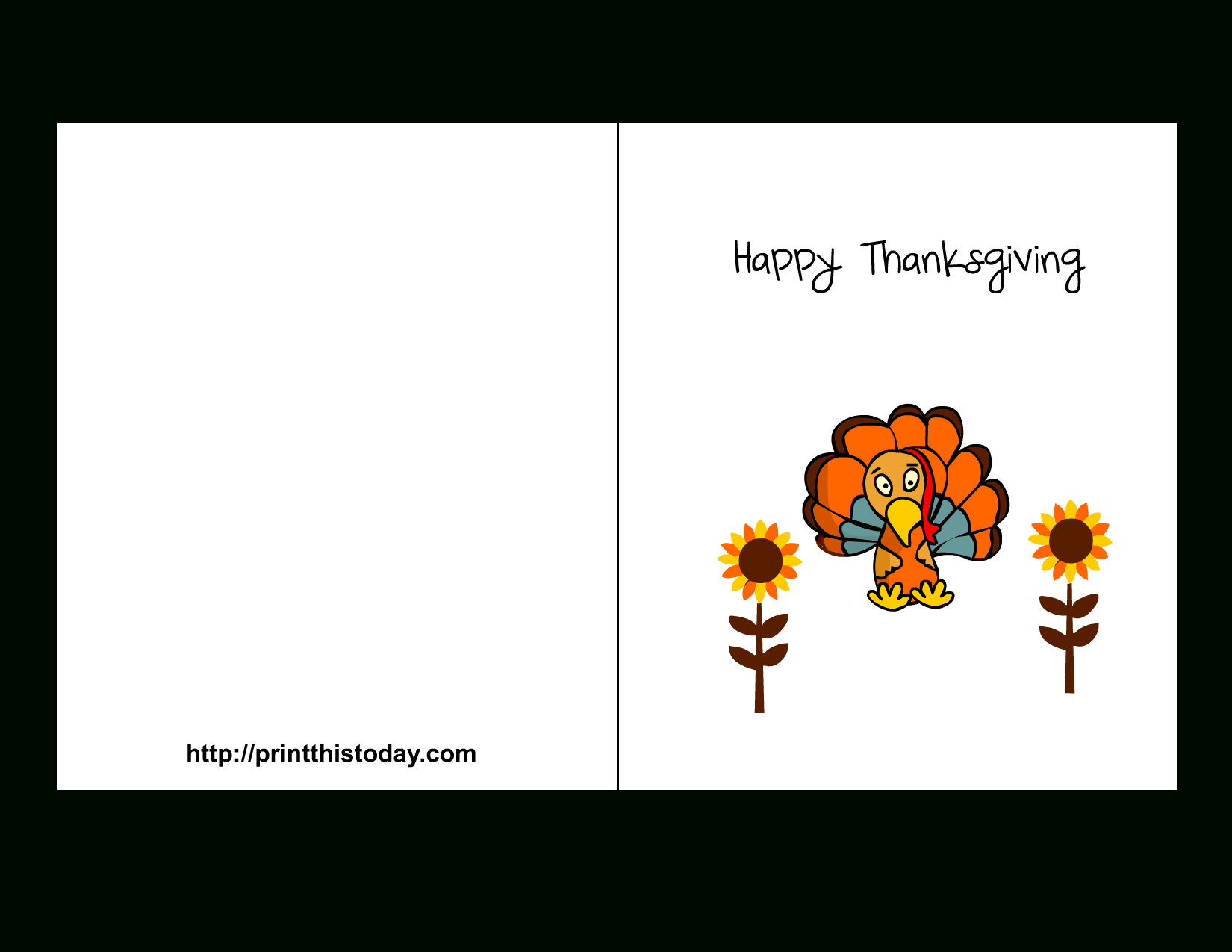 Thanksgiving Black And White Stock Card For Kids Printable - Rr - Happy Thanksgiving Cards Free Printable
