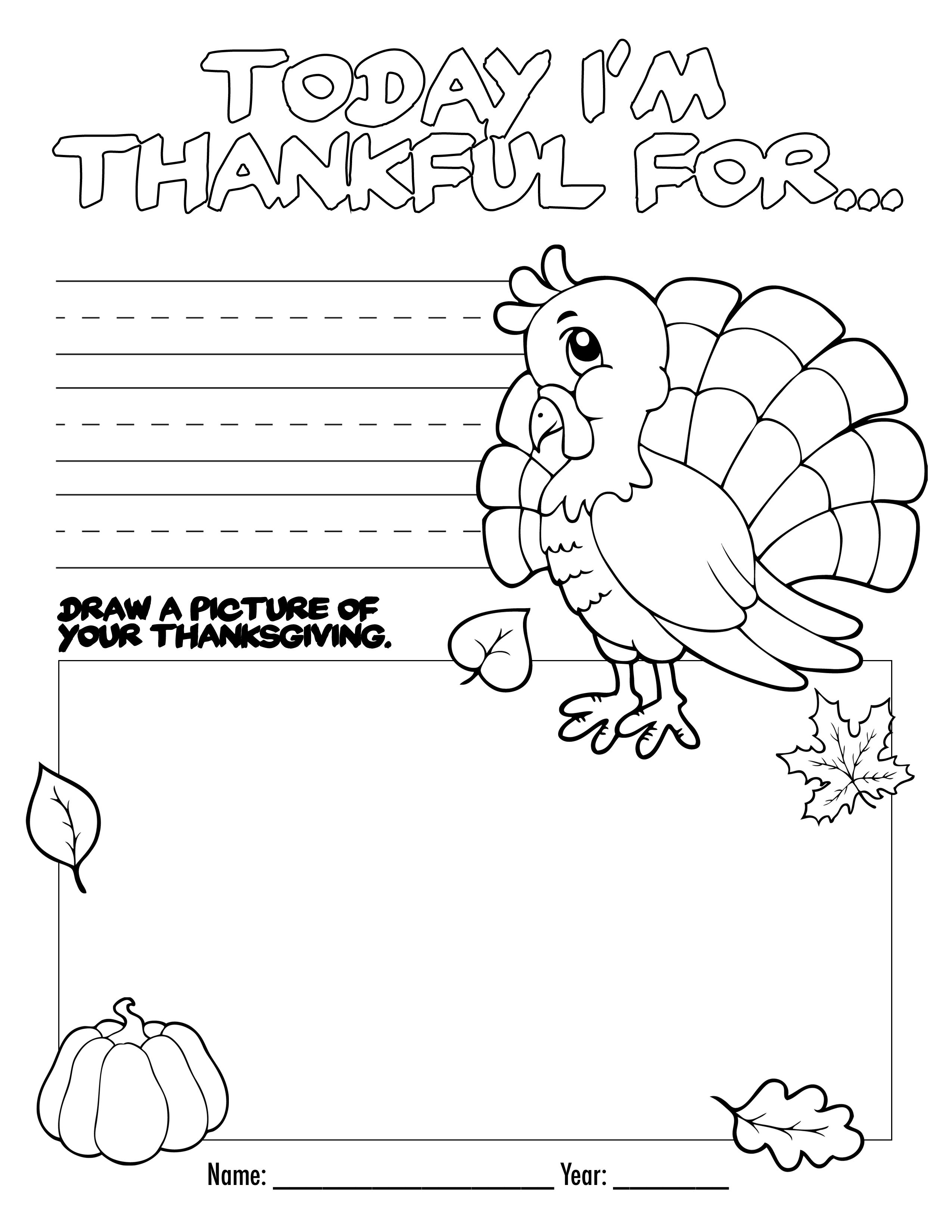 Thanksgiving Coloring Book Free Printable For The Kids!   Bloggers - Thanksgiving Printable Books Free