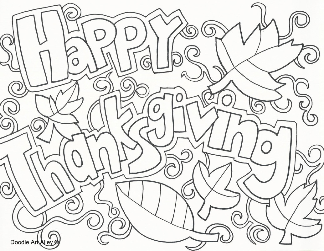 Thanksgiving Coloring Pages - Doodle Art Alley - Free Printable Thanksgiving Coloring Pages