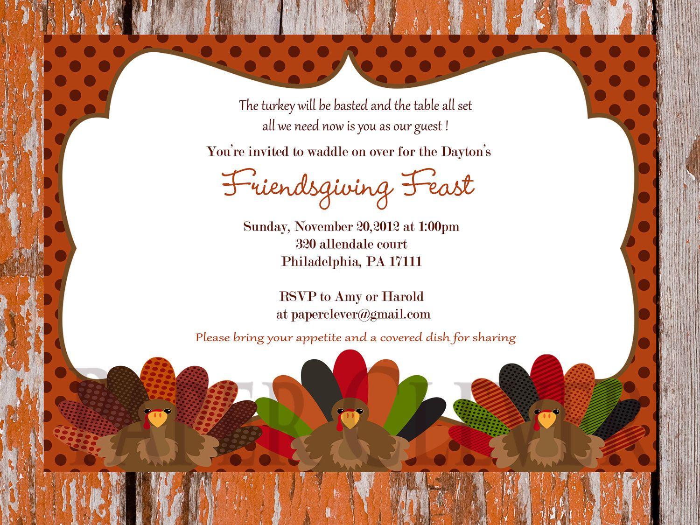 Thanksgiving Dinner Invitation Template Free - Google Search - Free Printable Thanksgiving Dinner Invitation Templates