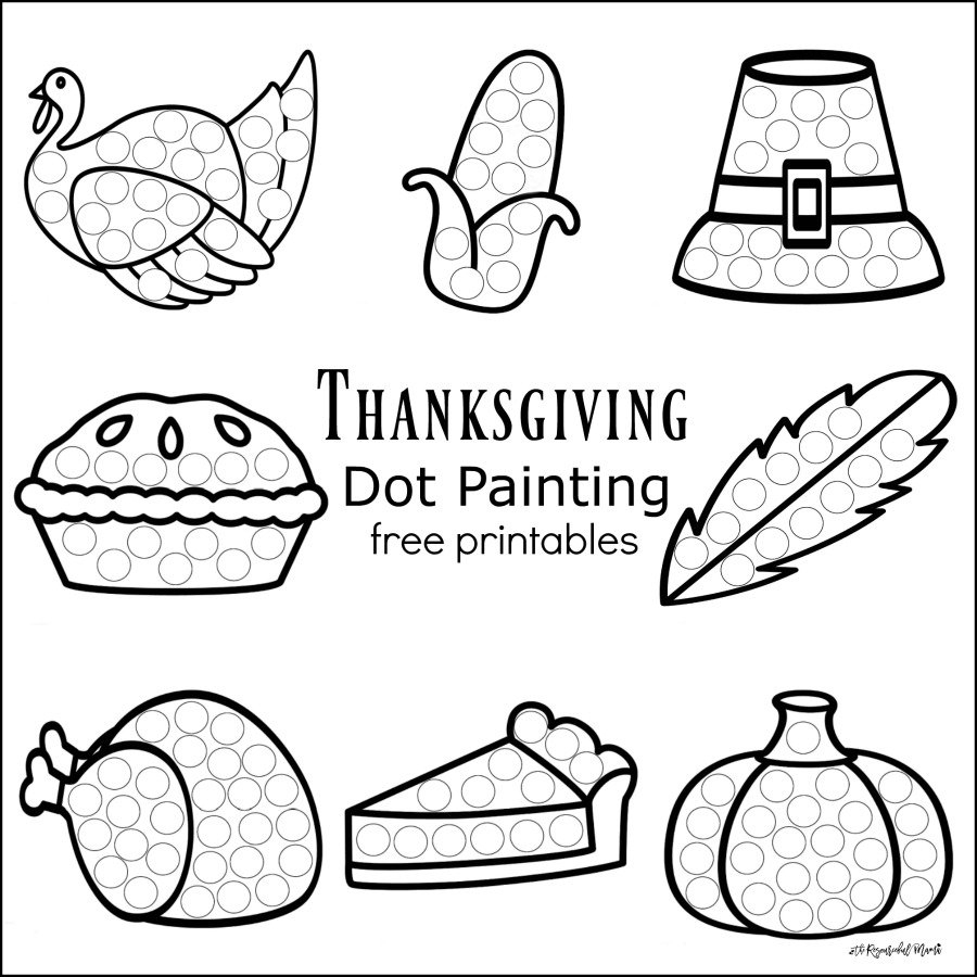 Thanksgiving Dot Painting {Free Printables} - The Resourceful Mama - Free Printable Fine Motor Skills Worksheets
