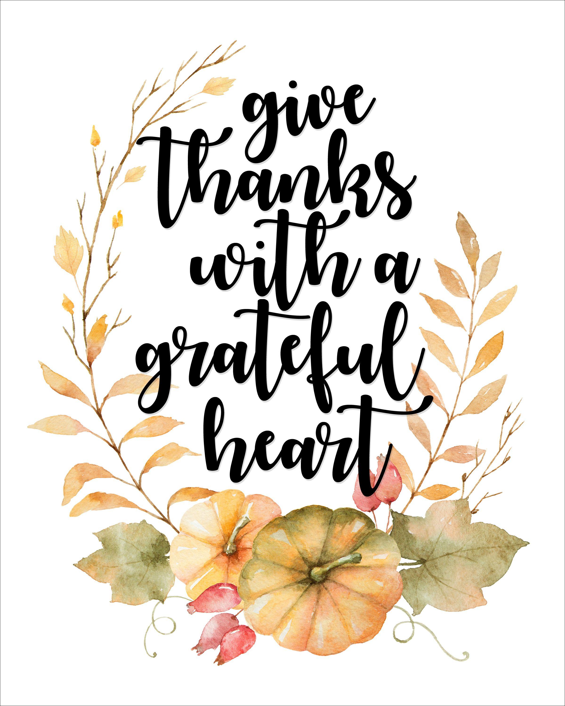 Thanksgiving Free Printable - Watercolor Thanksgiving Printable - Free Printable Thanksgiving Graphics