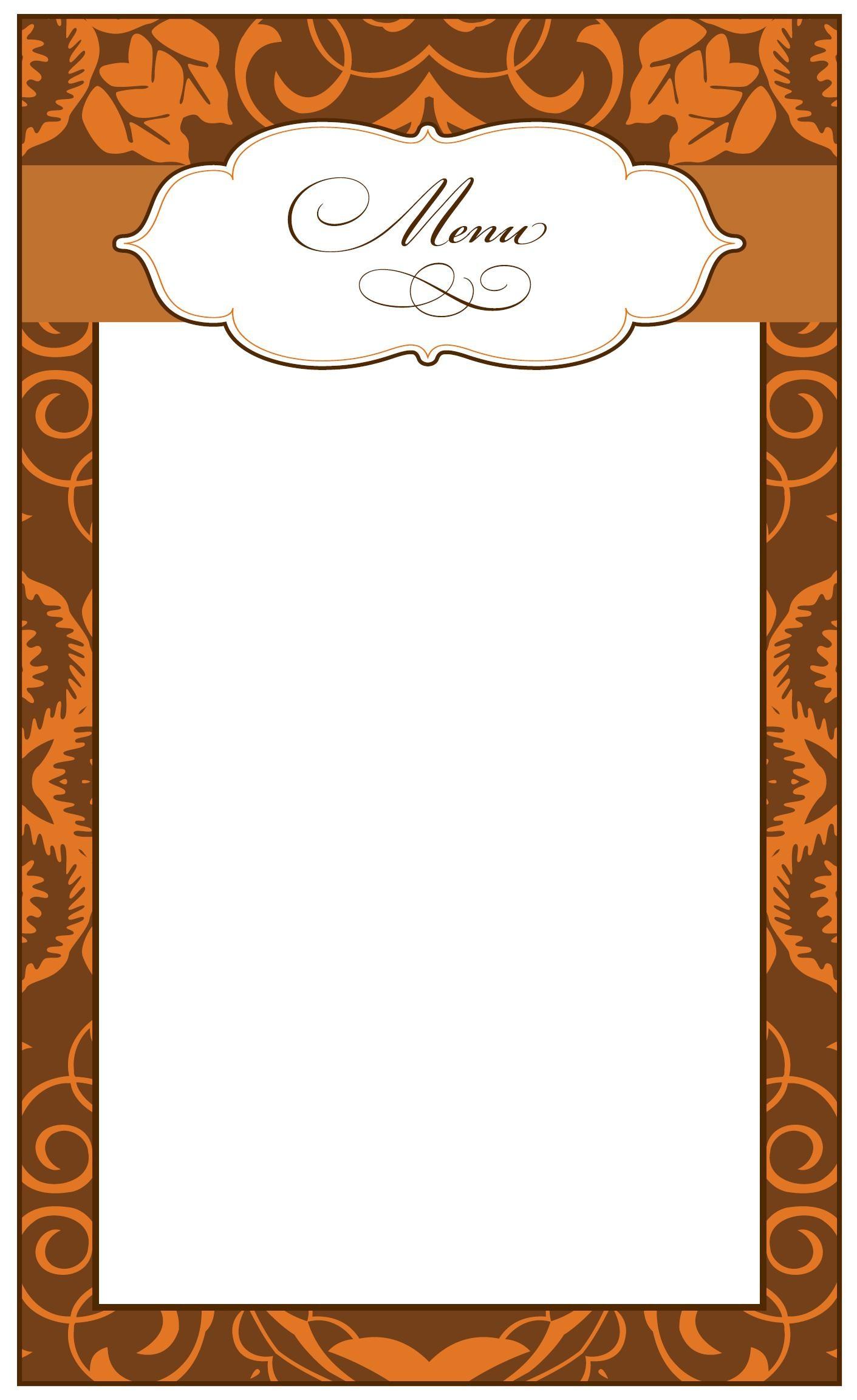 Thanksgiving Menu Template Printable Free Guide Blank Fancy Madratco - Free Printable Thanksgiving Menu Template