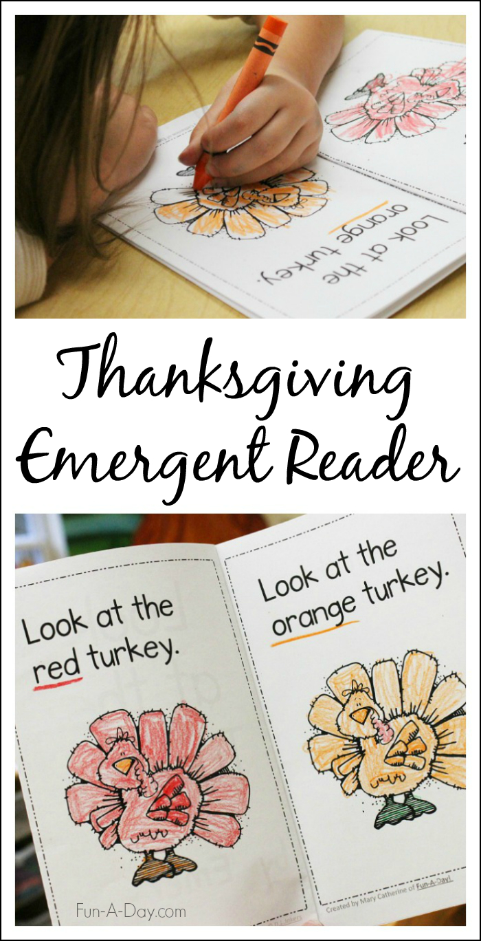 Free Thanksgiving Mini Book Printable