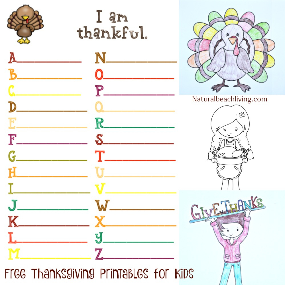 Thanksgiving Printables For Kids - Natural Beach Living - Free Printable Activities For Adults