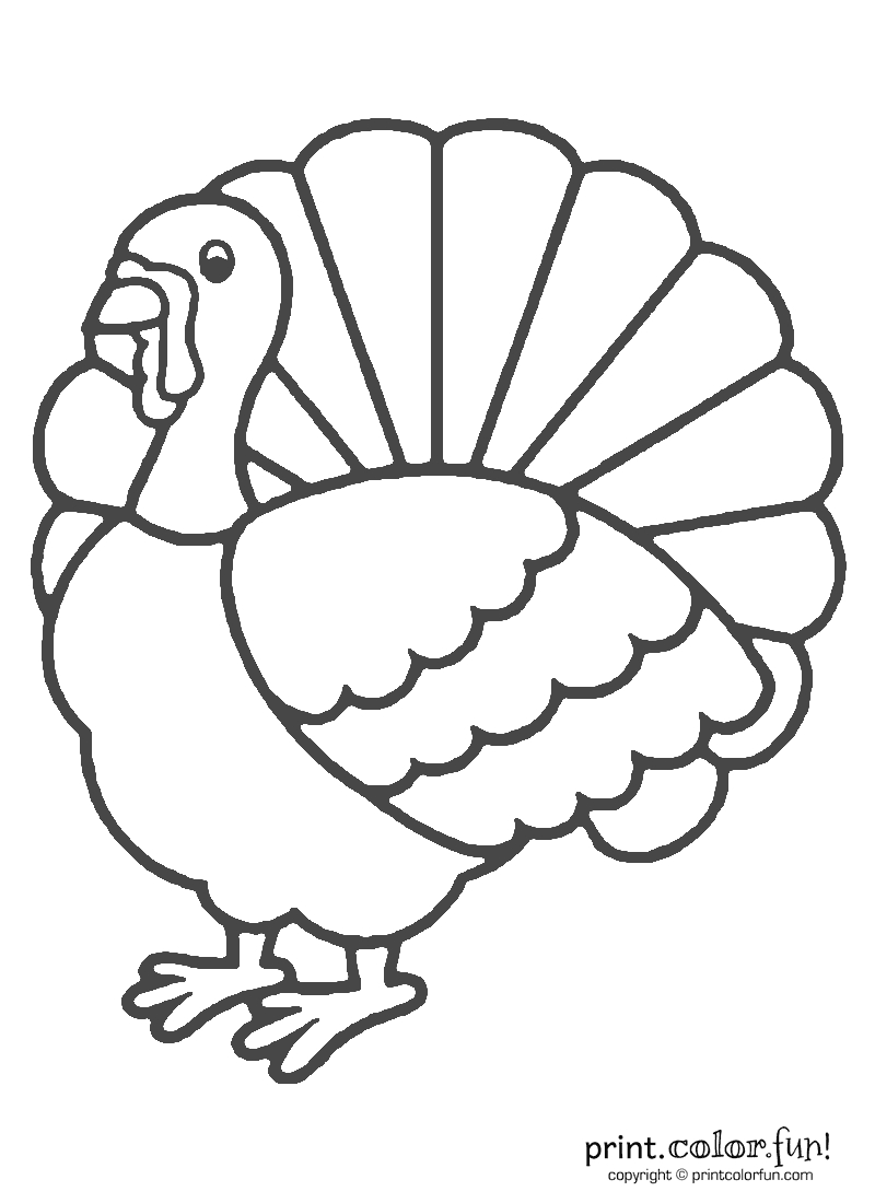 Thanksgiving Turkey Coloring | Print. Color. Fun! Free Printables - Free Printable Pictures Of Turkeys To Color