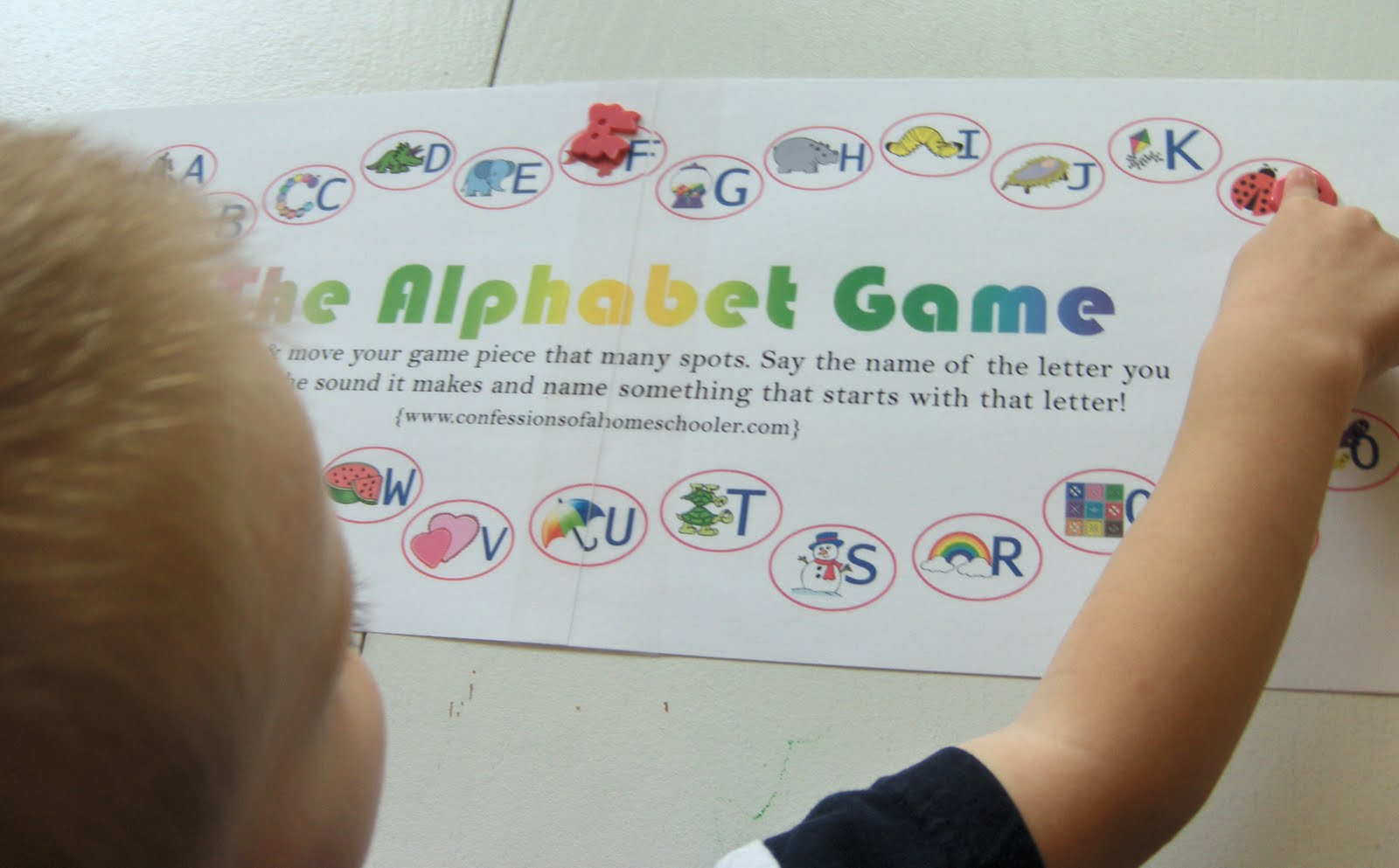 The Activity Mom - Alphabet Board Game (Printable) - The Activity Mom - Free Printable Alphabet Board Games
