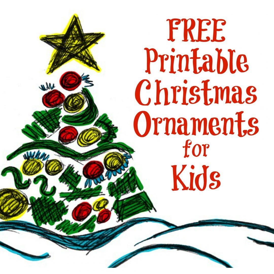 The Activity Mom - Printable Christmas Ornaments For Kids - The - Free Printable Christmas Ornament Crafts