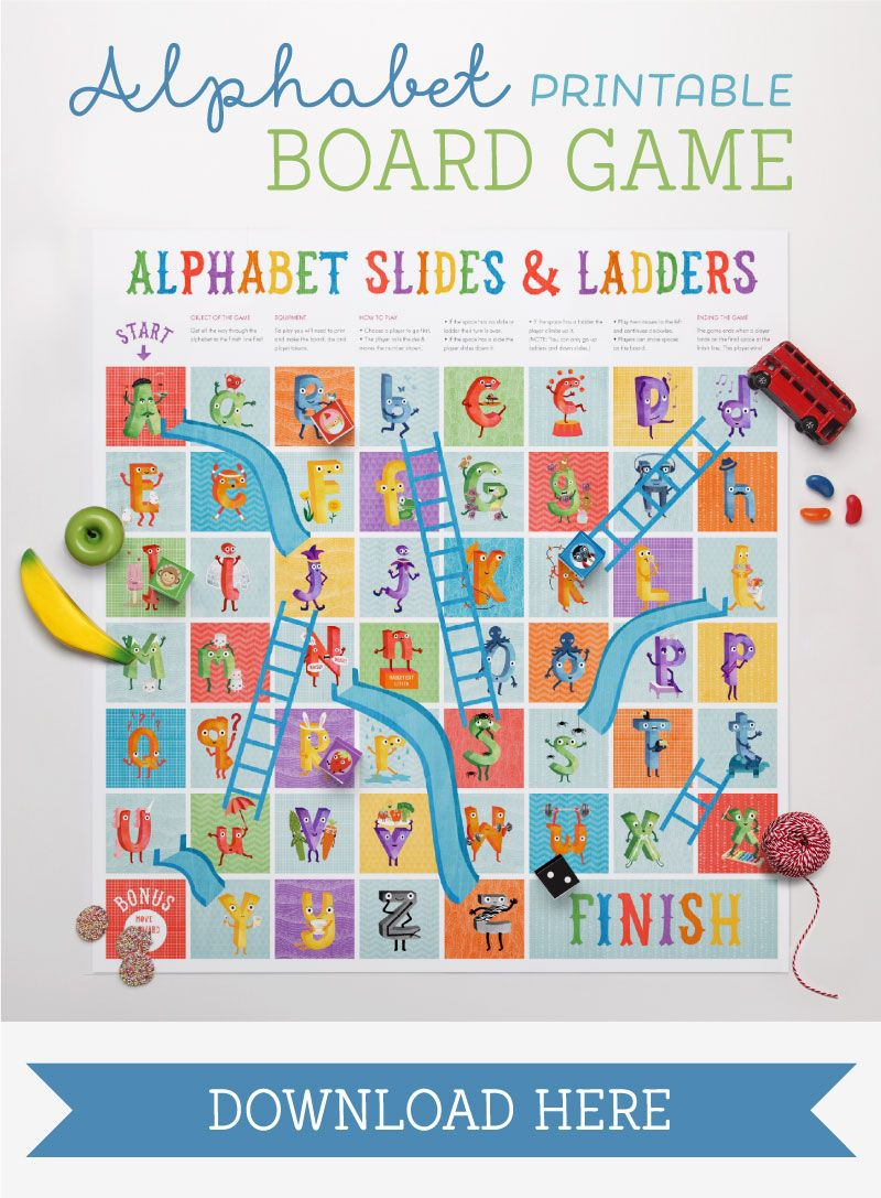 The Amazing Alphabet Printables & Storybook | Play&learn | 파닉스 - Free Printable Alphabet Board Games