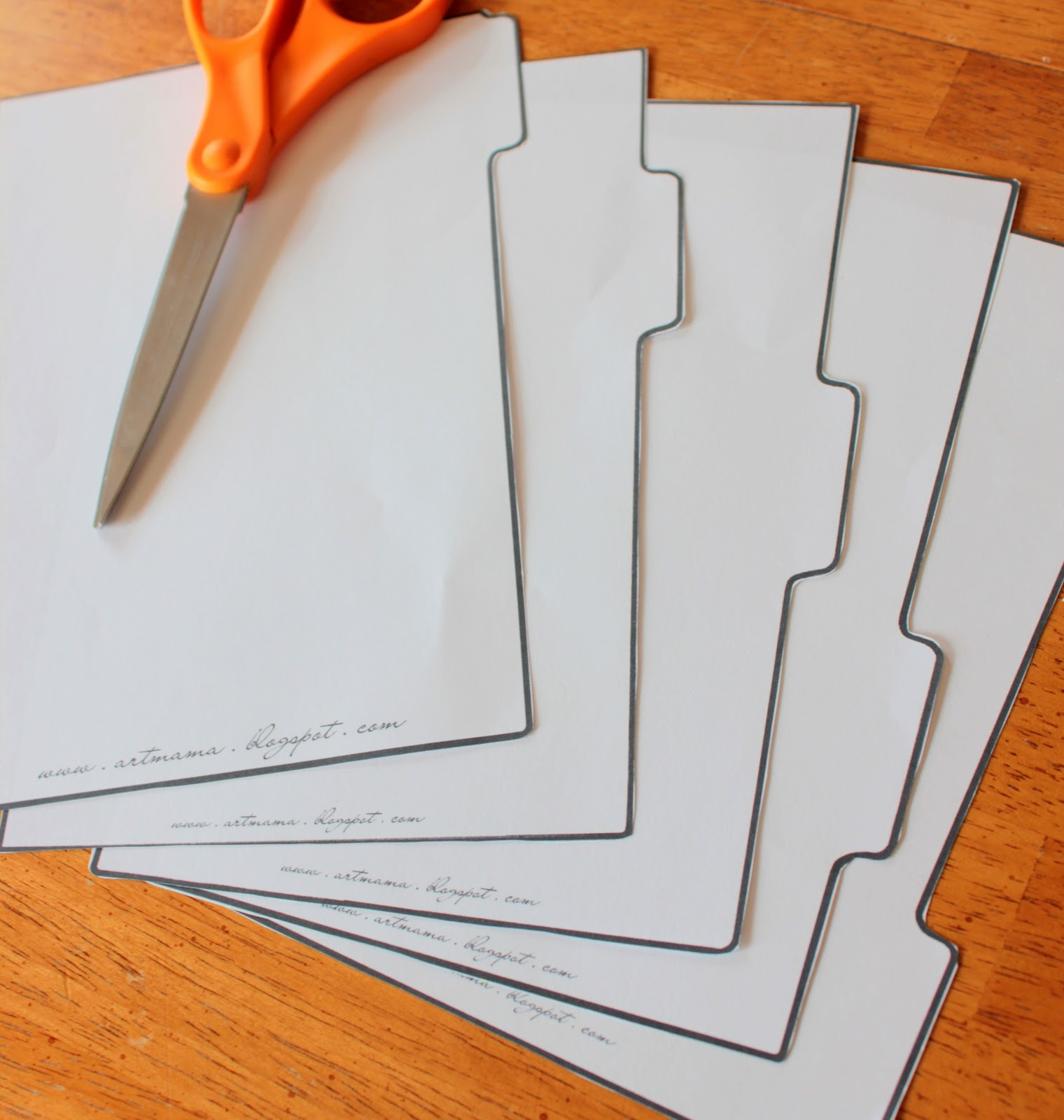 The Art Of Being Mama: Homemade Binder Tabs {Free Printables} - Free Printable Tabs For Binders