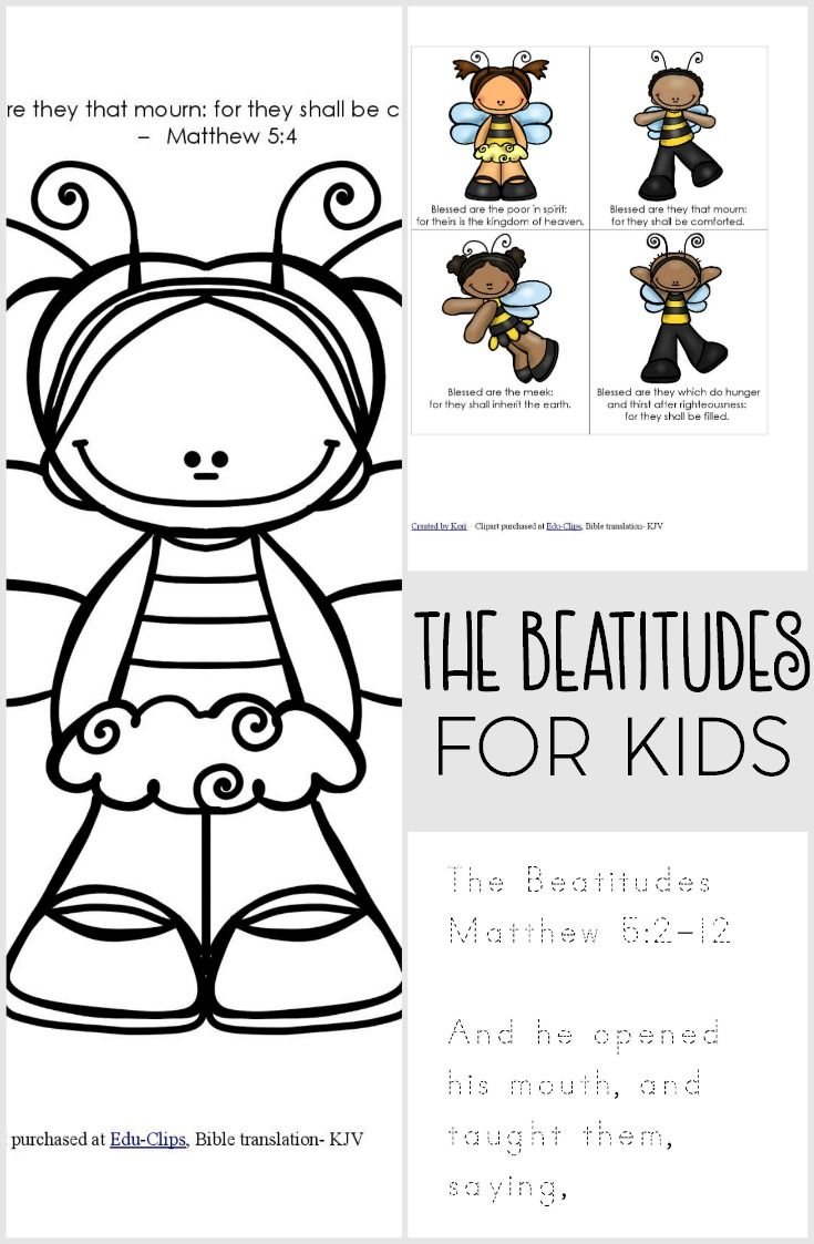 The Beatitudes For Kids Printable Pack | Christian Parenting | Kids - Free Printable Bible Crafts For Preschoolers