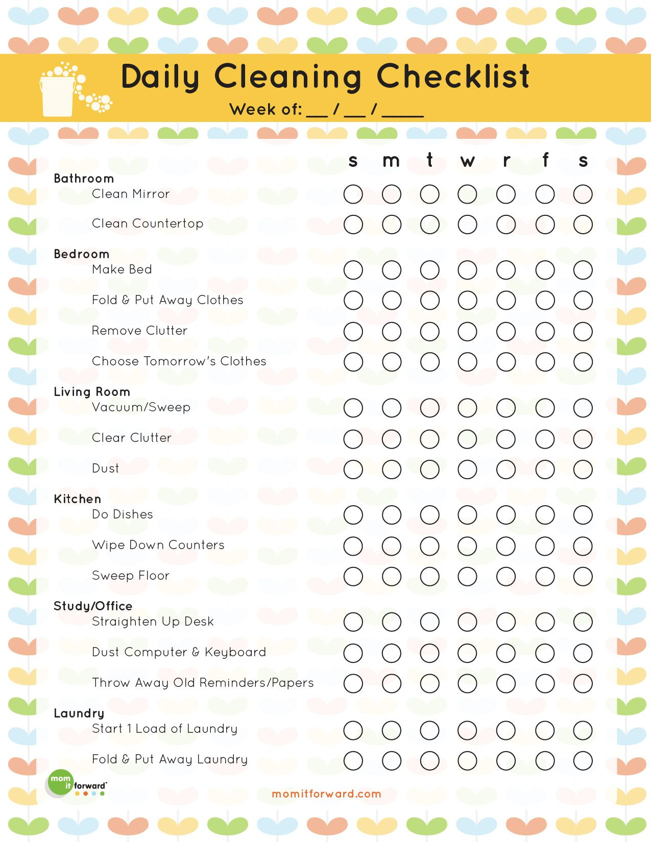 The Best Free Printable Cleaning Checklists | Informative | Pinterest - Free Printable Cleaning Schedule