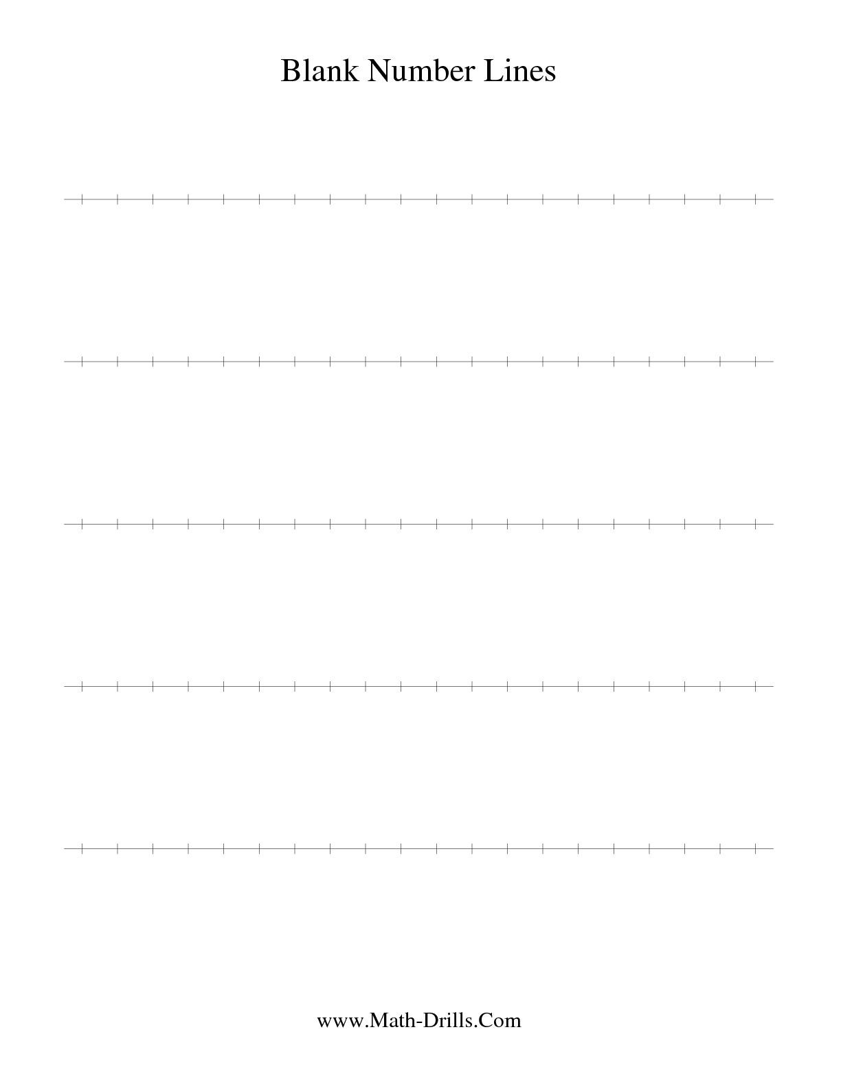 The Blank Number Line Math Worksheet From The Number Sense Worksheet - Free Printable Number Line Worksheets