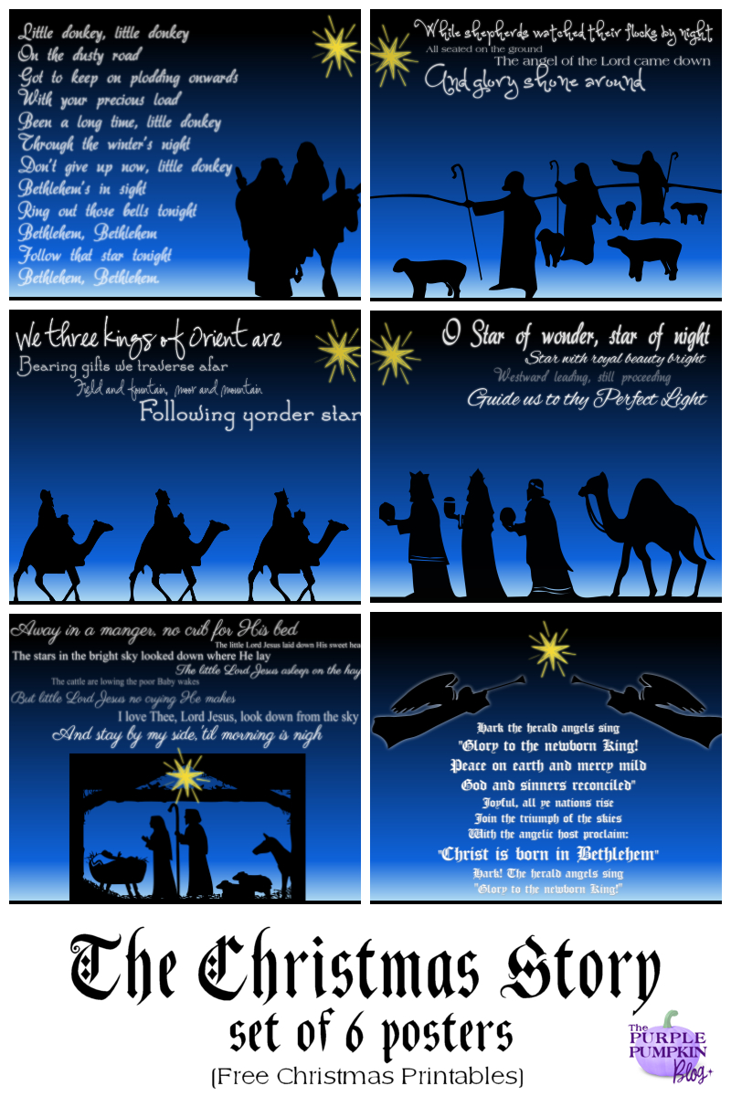 The Christmas Story Set Of 6 Posters - Free Printables | Graphics - Free Printable Nativity Story
