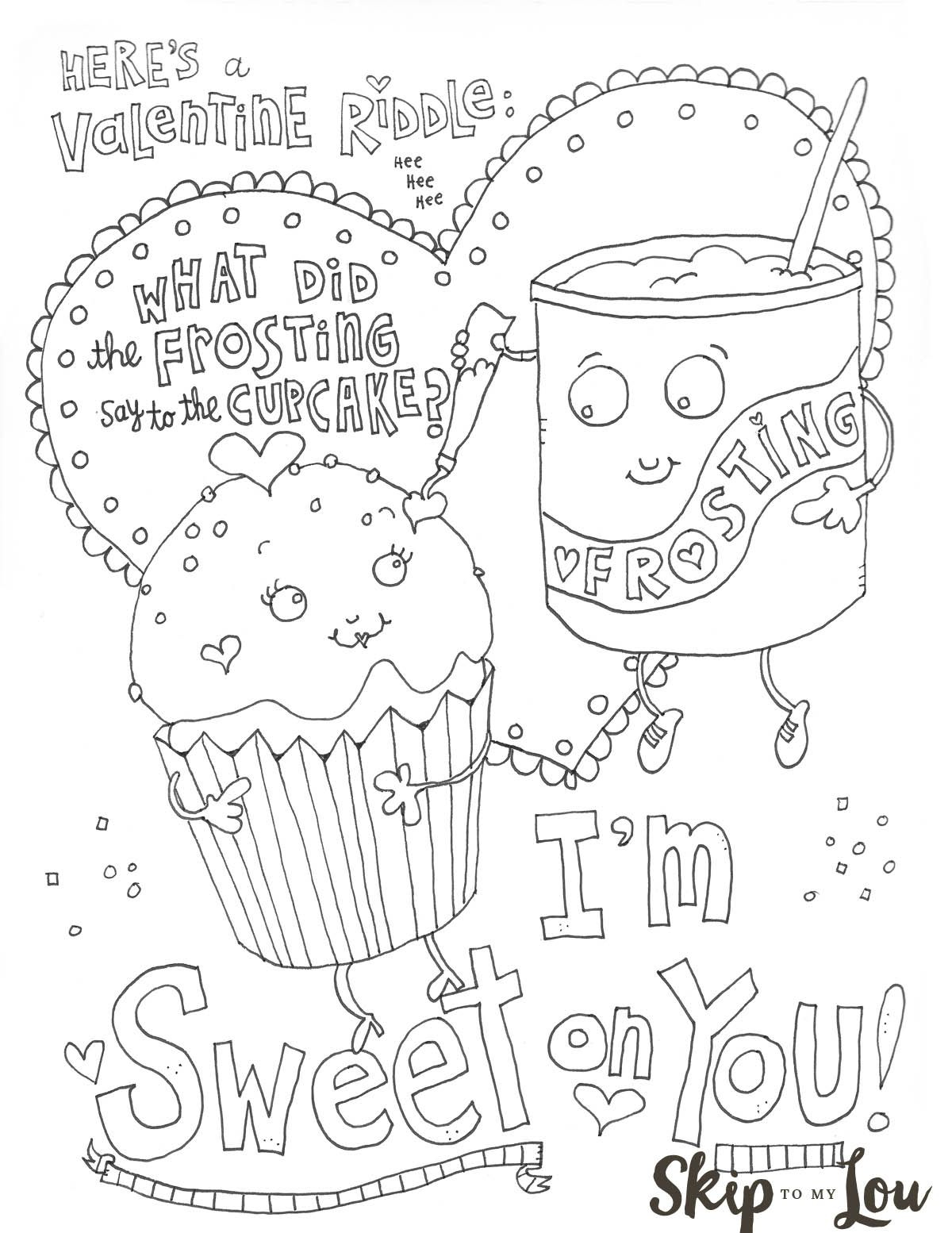 The Cutest Valentines Coloring Pages   Diy Creative Ideas - Free Printable Valentine Coloring Pages