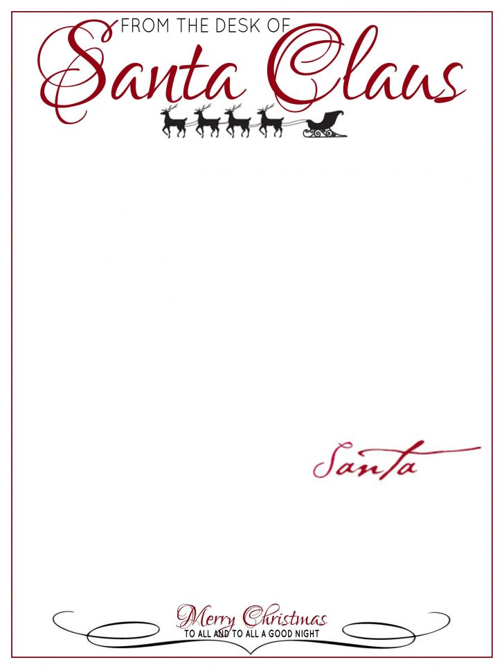 Free Printable Santa Letter Paper