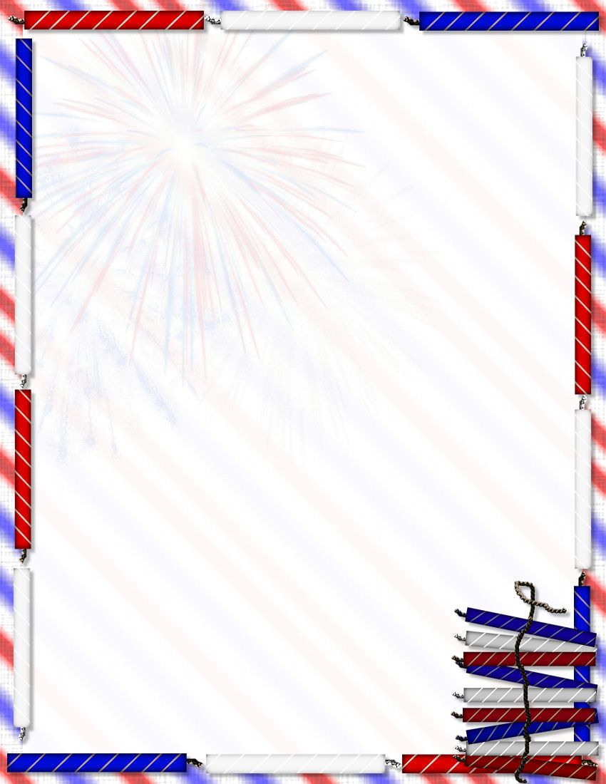 The Dot Files Are For Microsoft Word Stationery. Description From 1 - Free Printable 4Th Of July Stationery