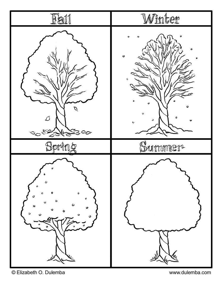 The Four Seasons Colouring Pages | Preschool | Pinterest | Seasons - Free Printable Seasons Worksheets For Kindergarten