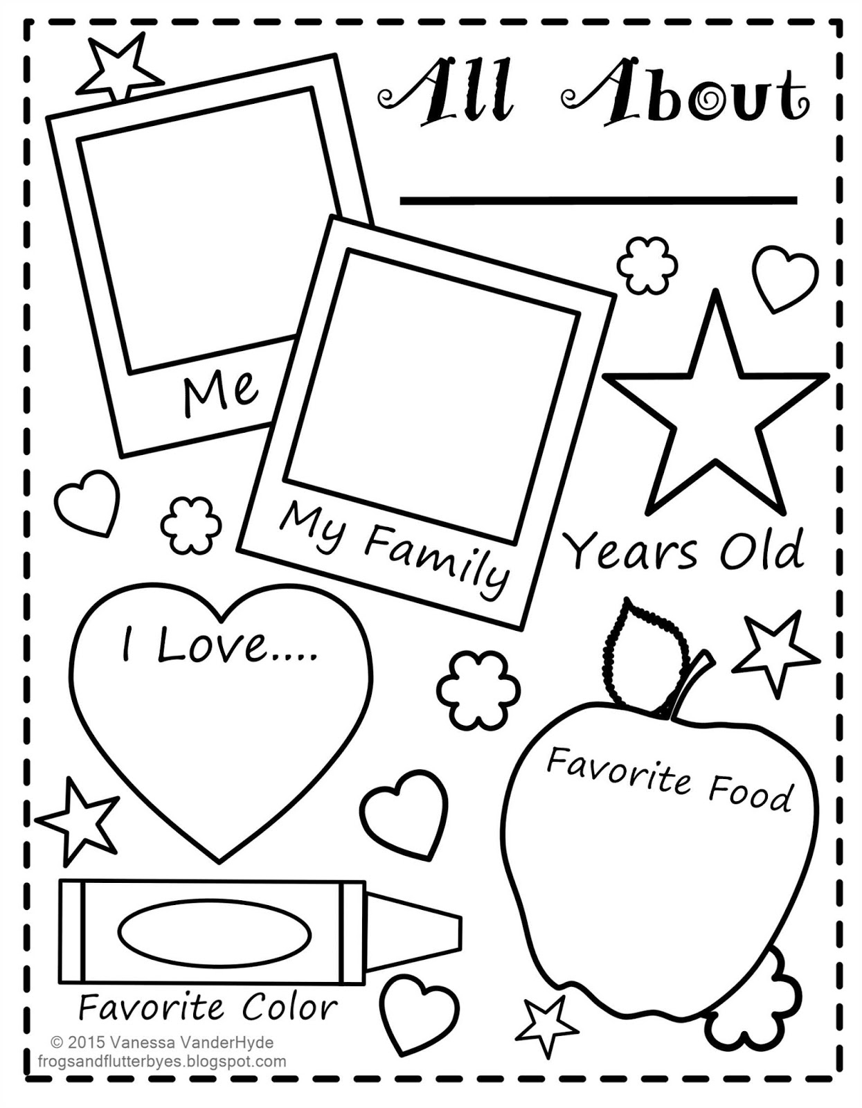 The Frogs And The Flutterbyes: All About Me Free Printable - All About Me Free Printable