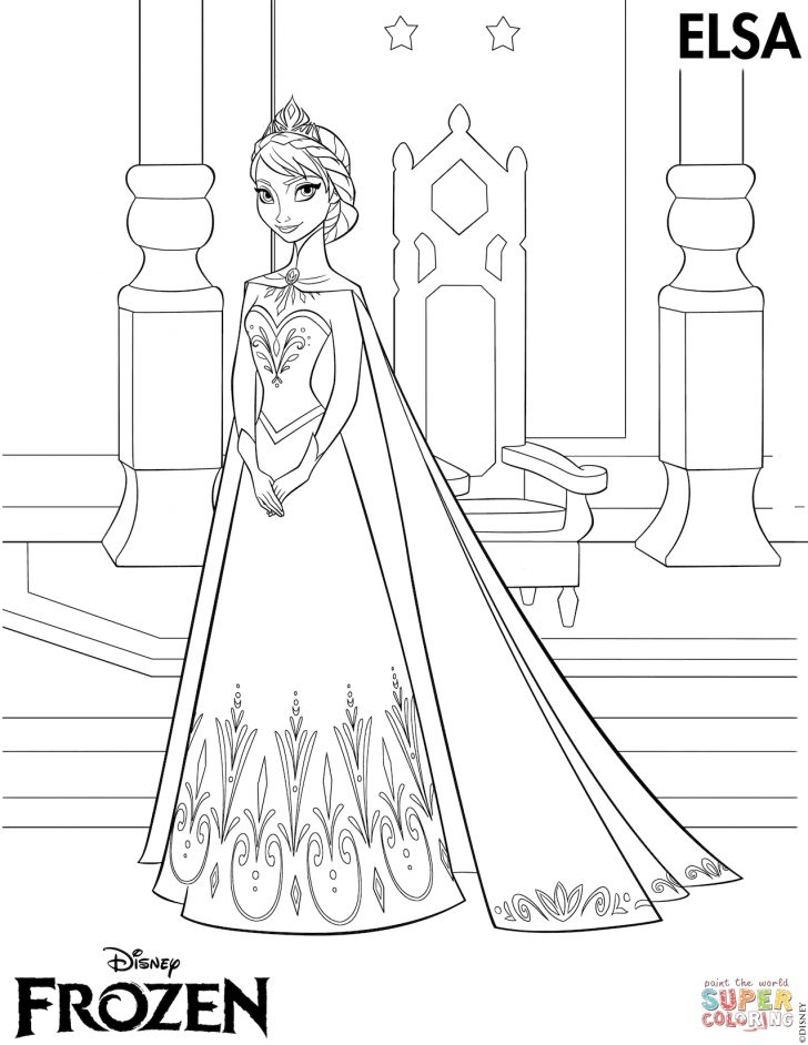 Free Printable Frozen Coloring Pages