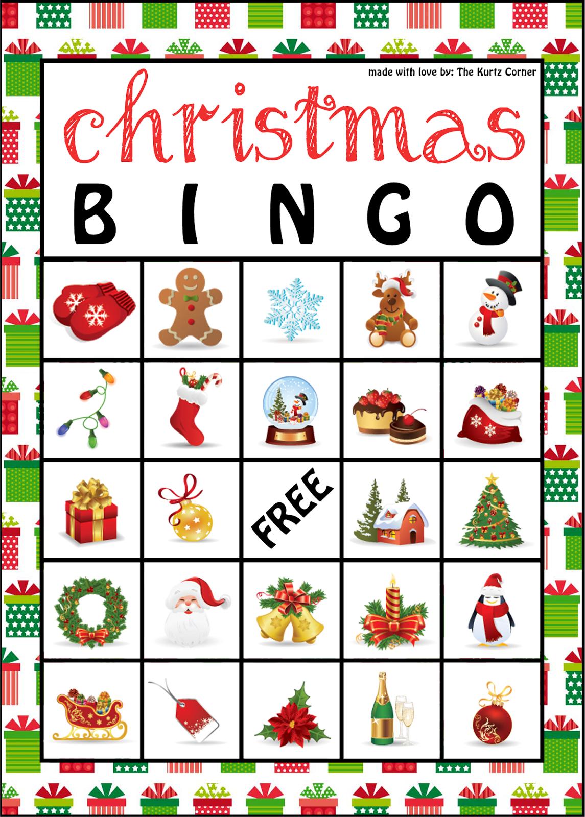 The Kurtz Corner: Free Printable Christmas Bingo Cards   Winter / X - Christmas Bingo Game Printable Free