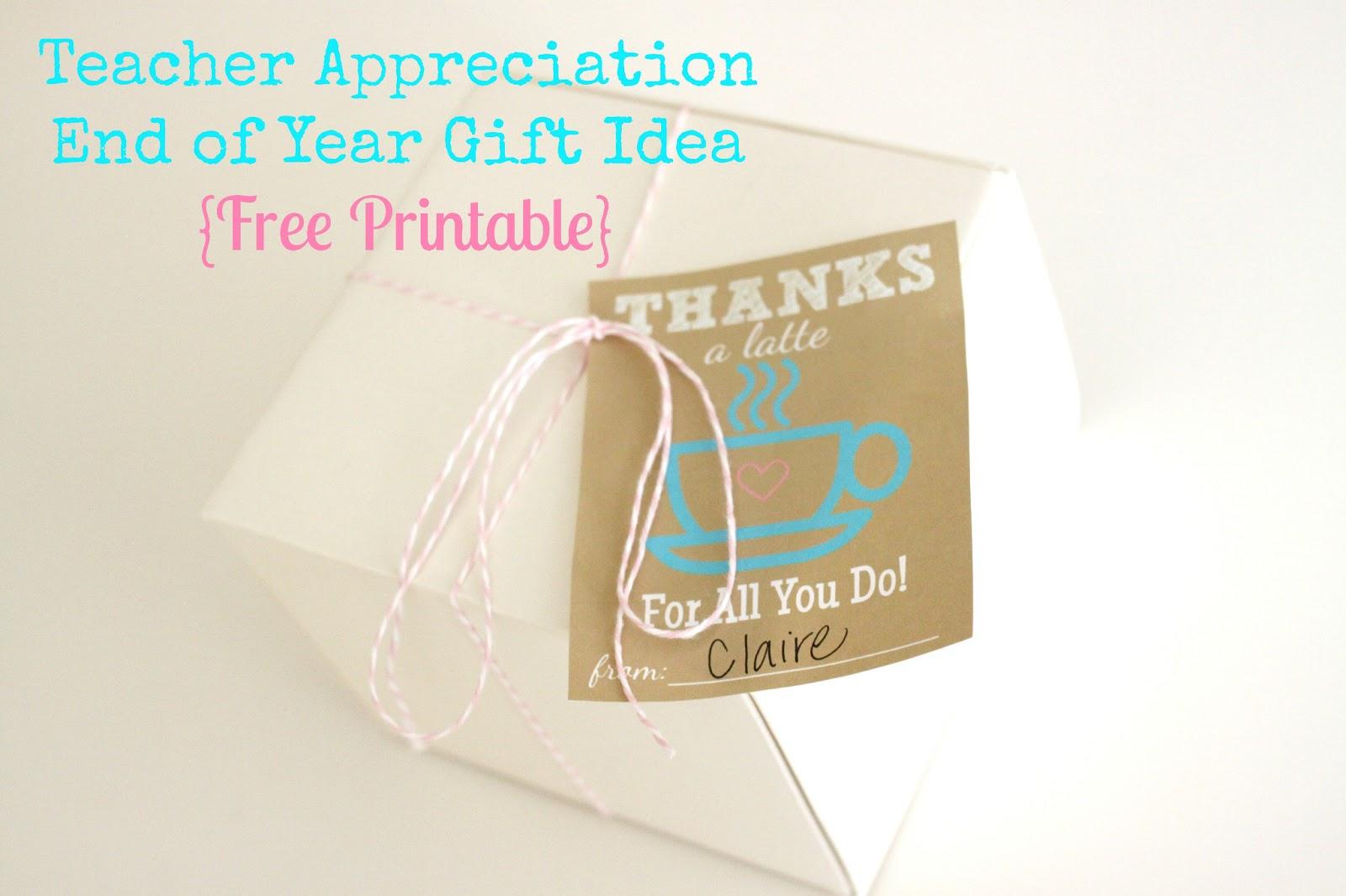 The Larson Lingo: Thanks A Latte {Free Printable} - Thanks A Latte Free Printable Tag