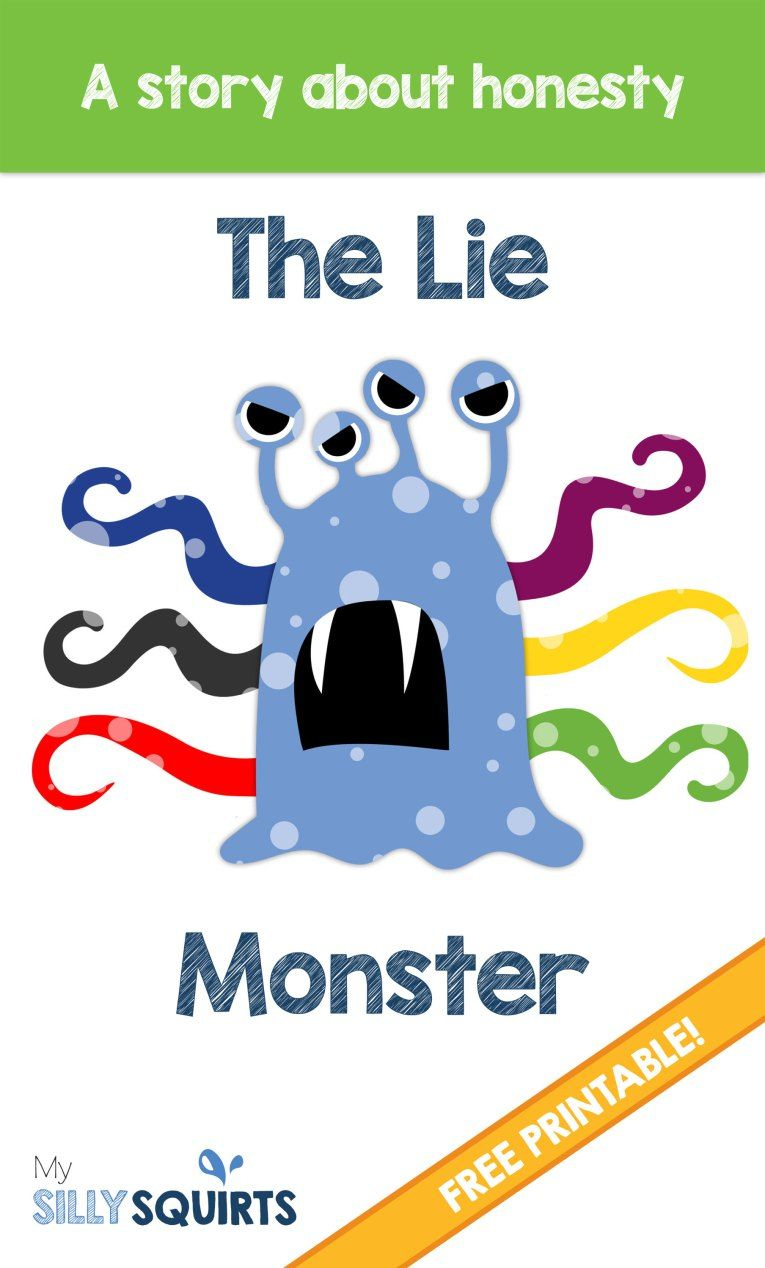 The Lie Monster: A Free Printable Story About Honesty | Kids - Free Printable Social Stories For Kids