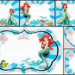 The Little Mermaid Free Printable Invitations, Cards Or Photo Frames   Free Little Mermaid Printable Invitations