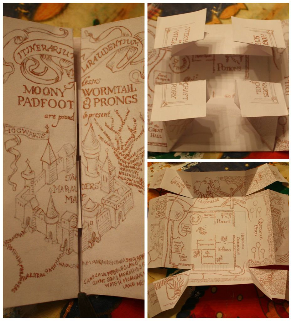 The Marauders Map | Potterlove | Harry Potter Marauders Map, Harry - Free Printable Marauders Map