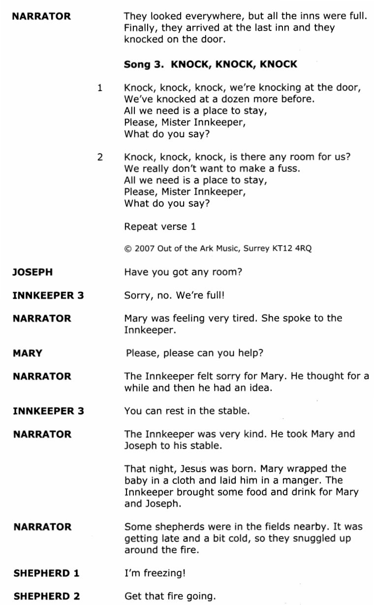 The Nativity | Christmas Play | Out Of The Ark Music - Free Printable Christmas Plays For Sunday School