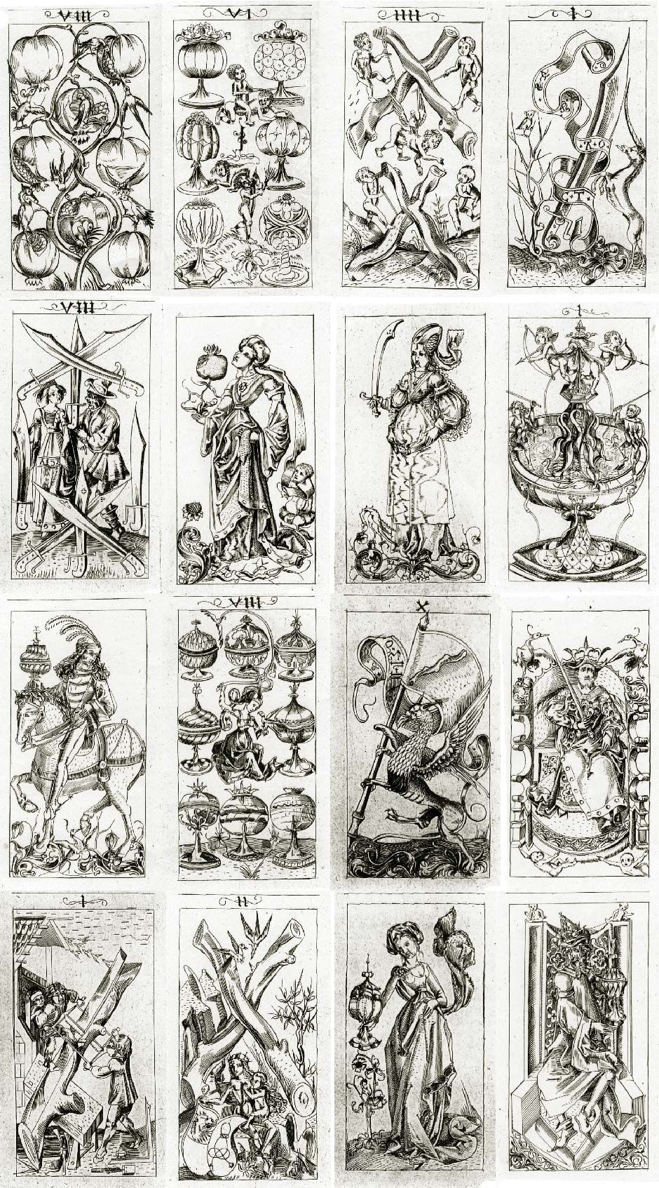 The Pack Of Cardsthe South German Engraver, C.1496 | Print - Free Printable Tarot Cards