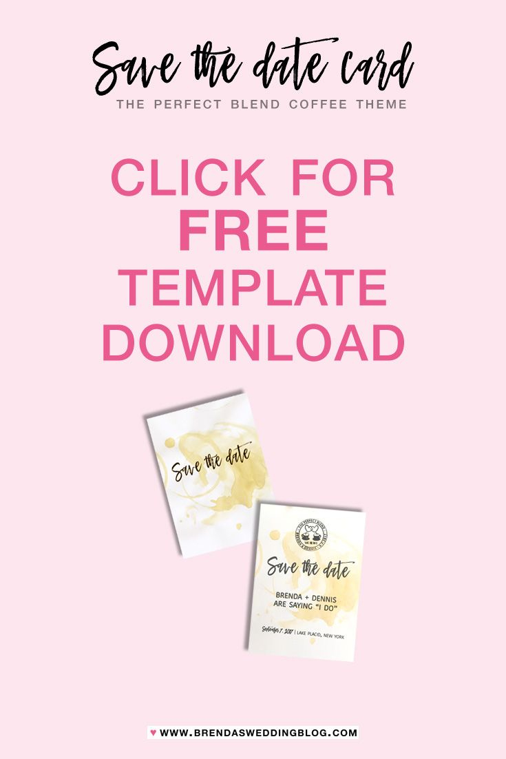 The Perfect Blend Save The Date Card : Free Wedding Invitation - Free Printable Save The Date Invitation Templates
