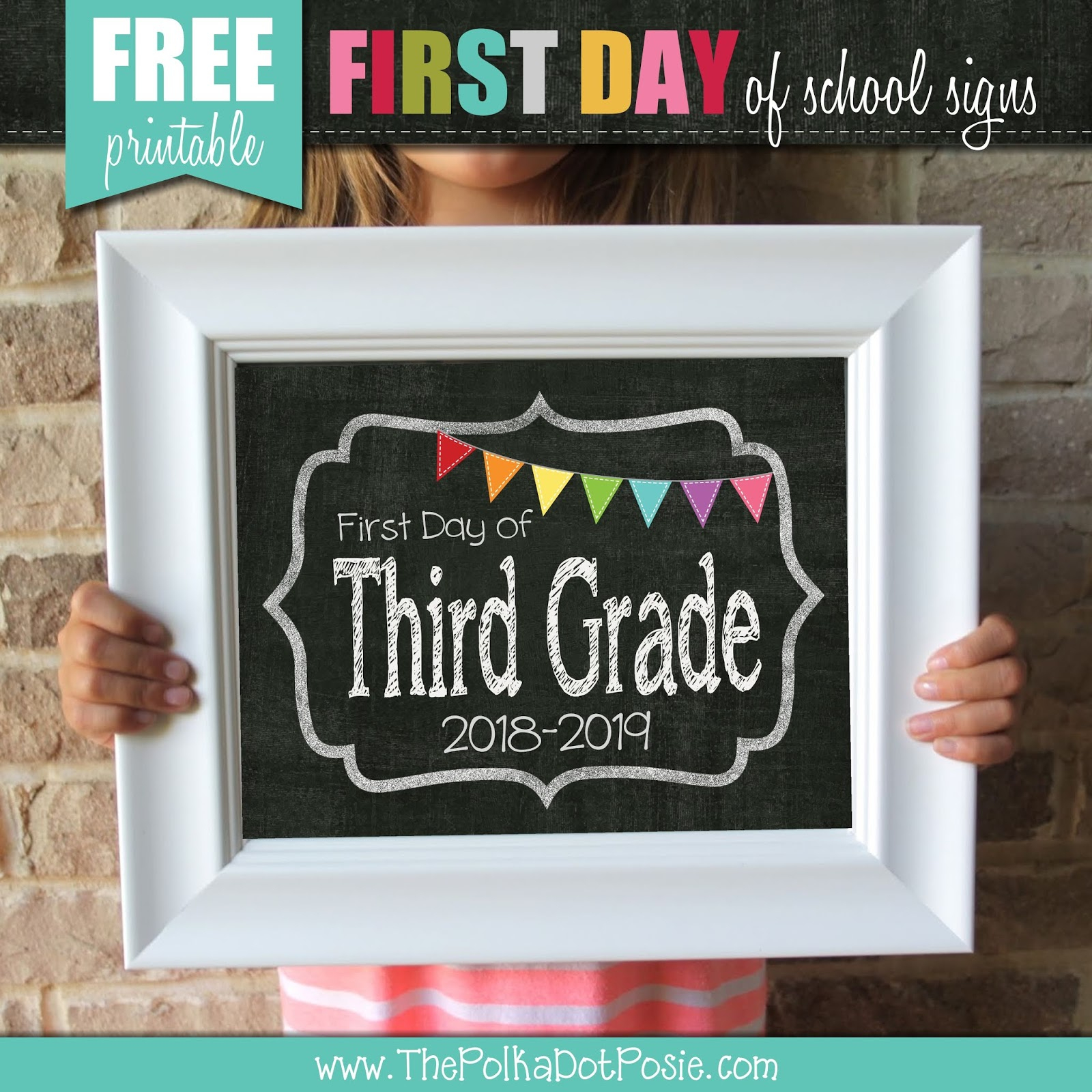 The Polka Dot Posie: Your Back-To-School Countdown Checklist! - Free Printable Fragrance Free Signs