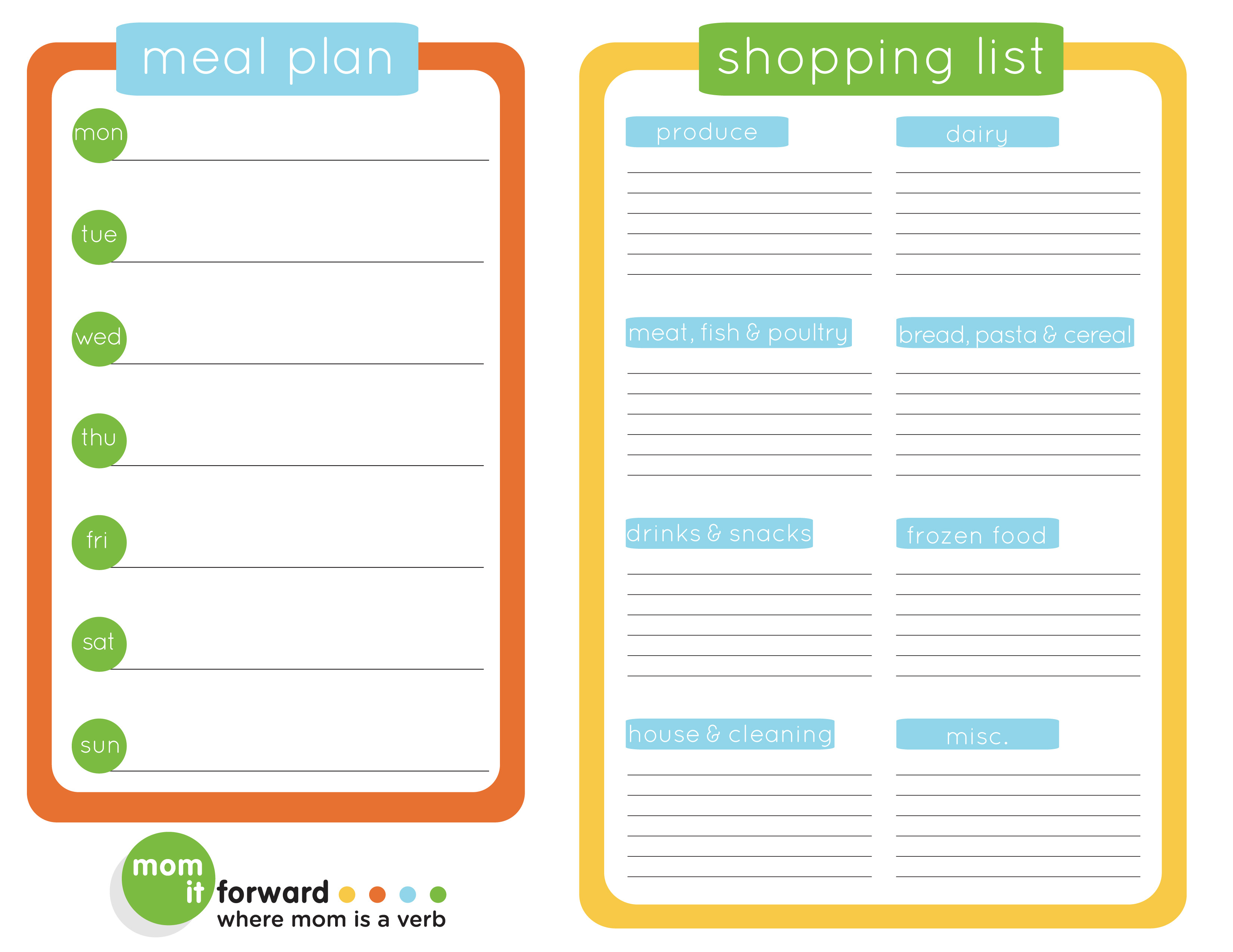 The Ultimate List Of Free Meal Planner Printables - Free Printable Menu Planner