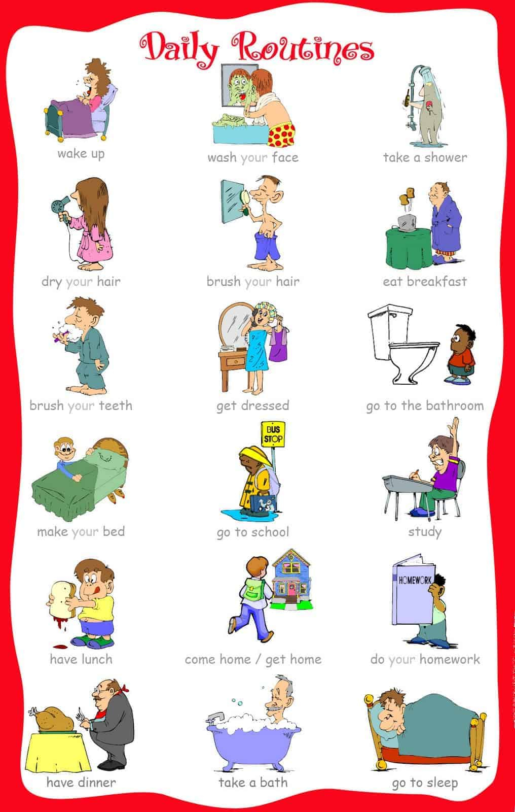 The Ultimate List Of Printable Visual Schedules. - Free Printable Picture Schedule For Preschool