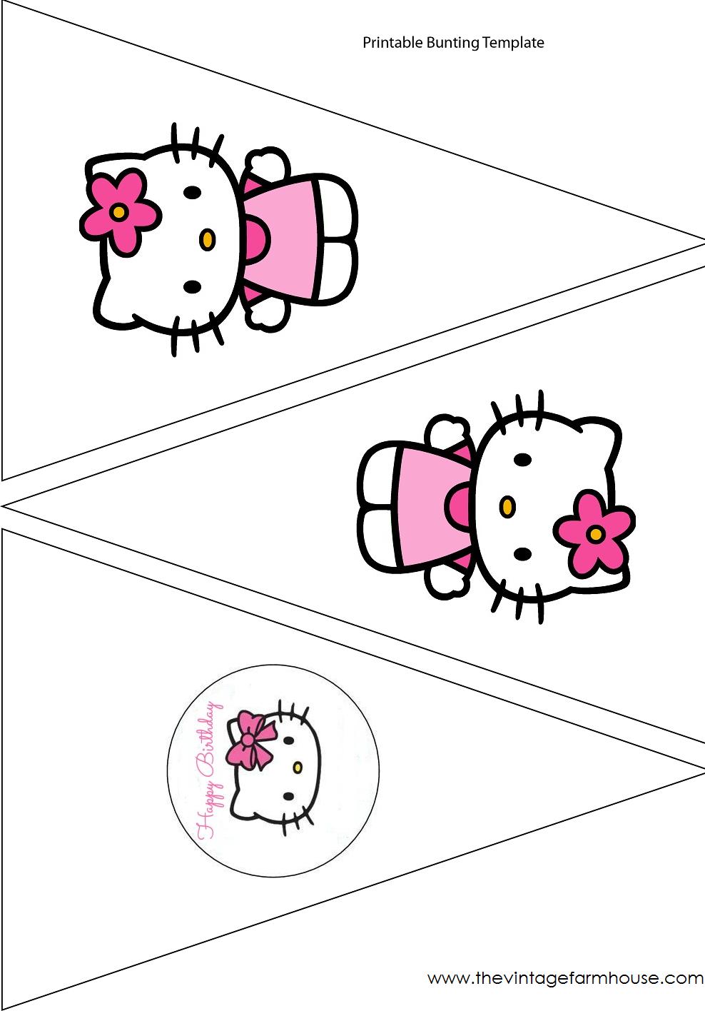 The Vintage Farmhouse: Hello Kitty Party & Free Printables | Для - Free Printable Hello Kitty Alphabet Letters