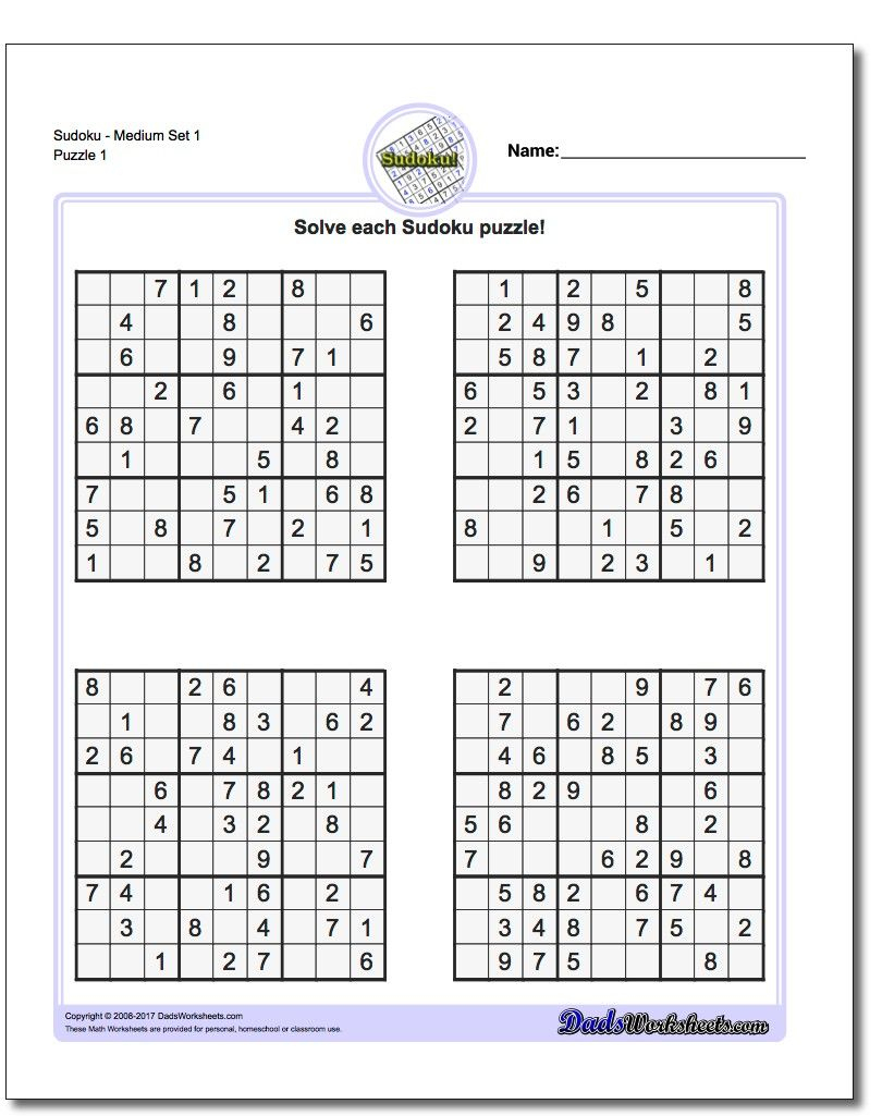 These Printable Sudoku Puzzles Range From Easy To Hard, Including - Free Printable Super Challenger Sudoku