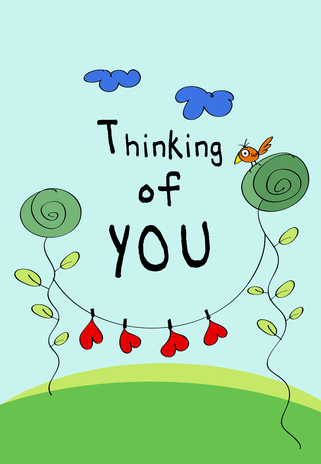 Thinking Of You - Free Love Card | Greetings Island - Free Printable Thinking Of You Cards