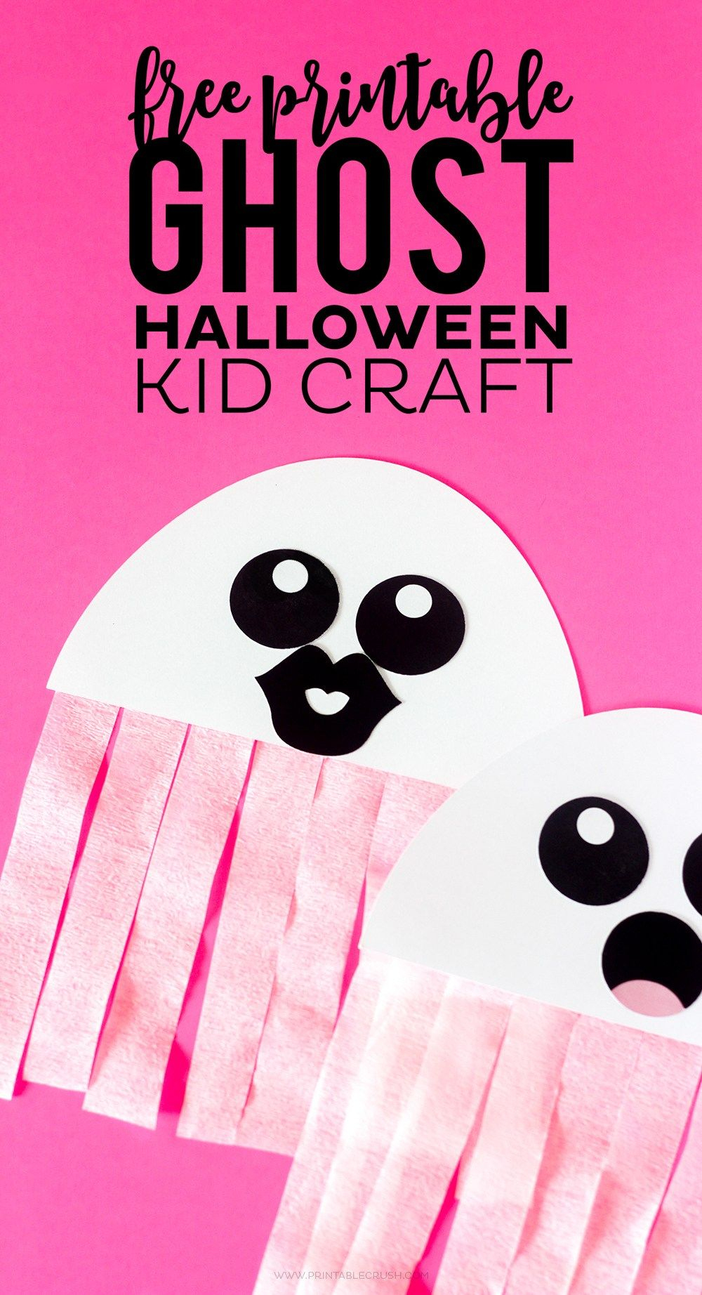 This Free Printable Ghost Halloween Craft Would Be A Great Activity - Halloween Crafts For Kids Free Printable