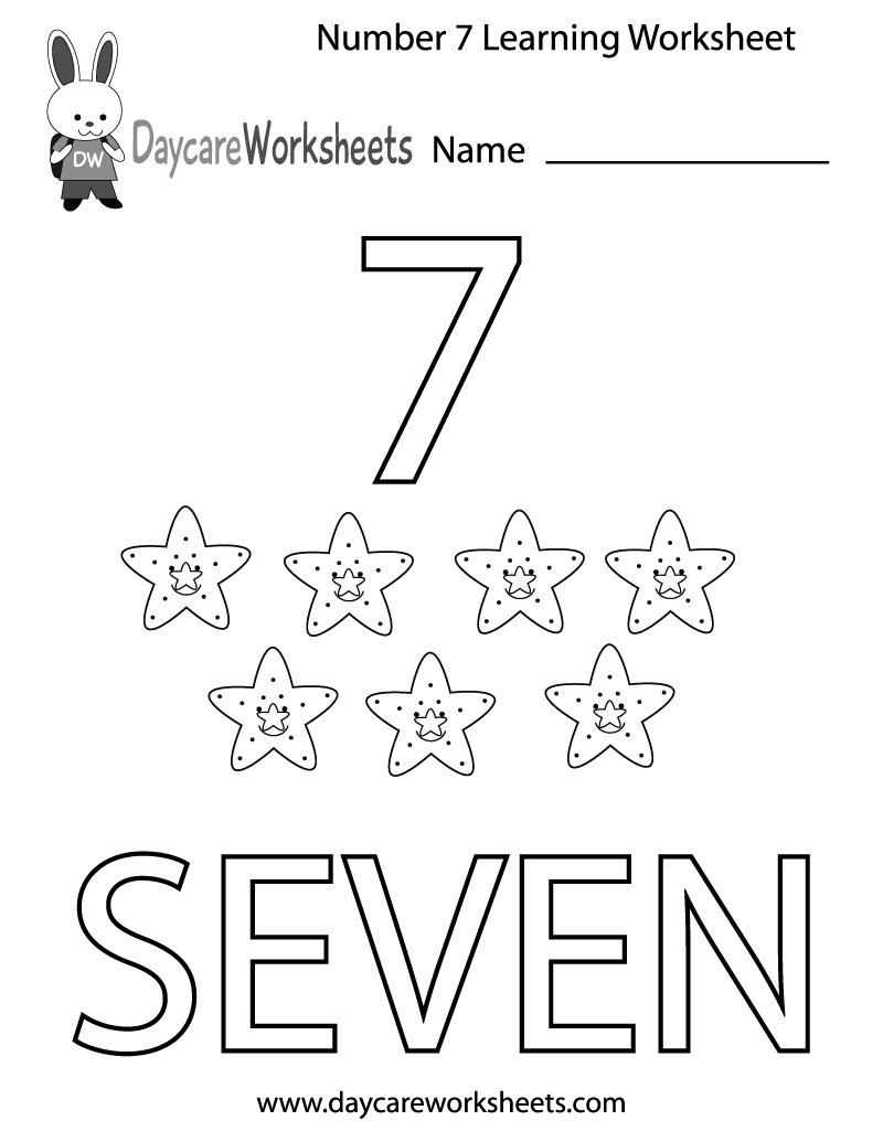 This Free Printable Worksheet Helps Preschoolers Learn The Number - Free Printable Learning Pages