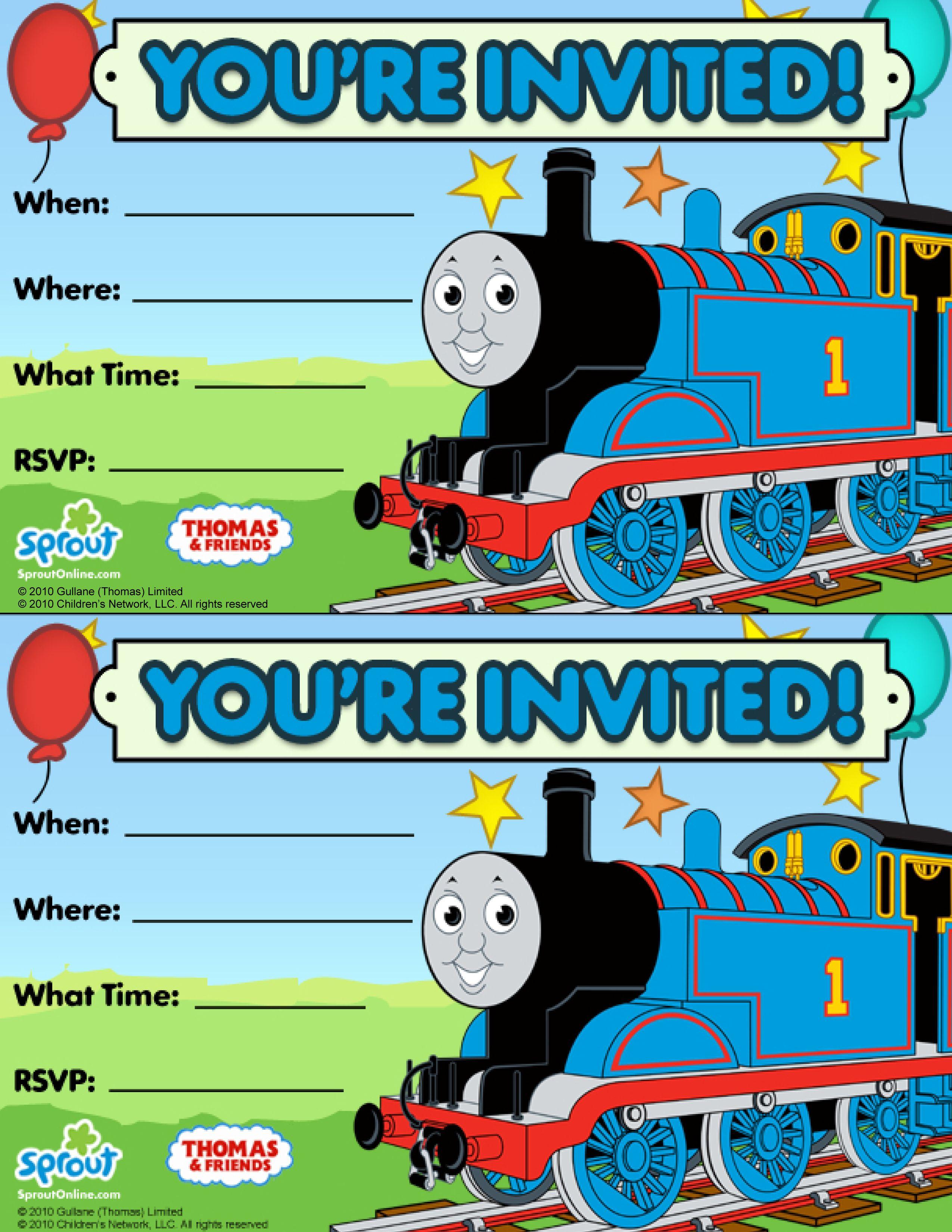 Thomas & Friends Party Invitation: Free   Birthday Party Ideas - Thomas Invitations Printable Free