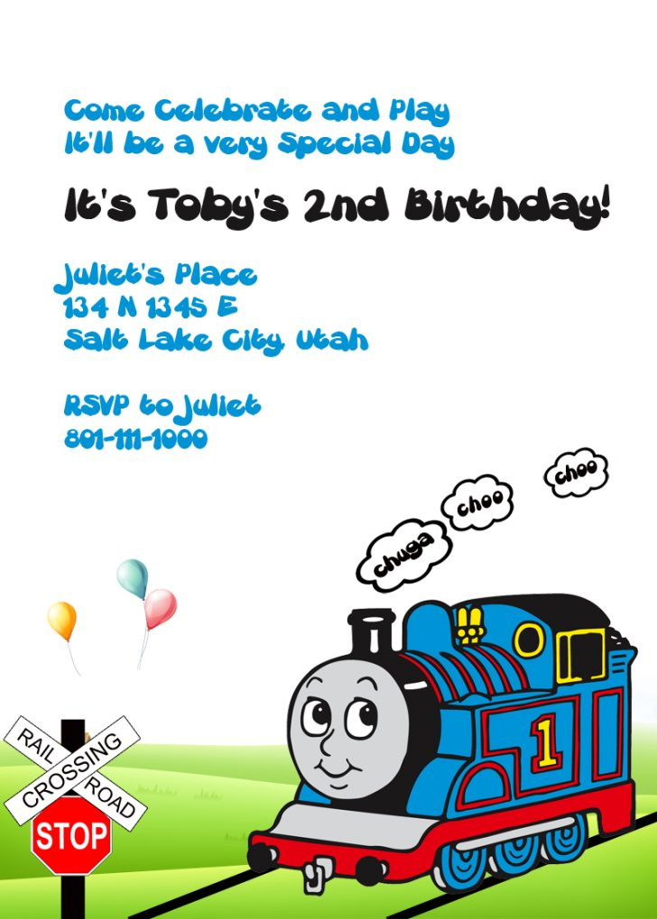 Thomas Invitations Printable Free