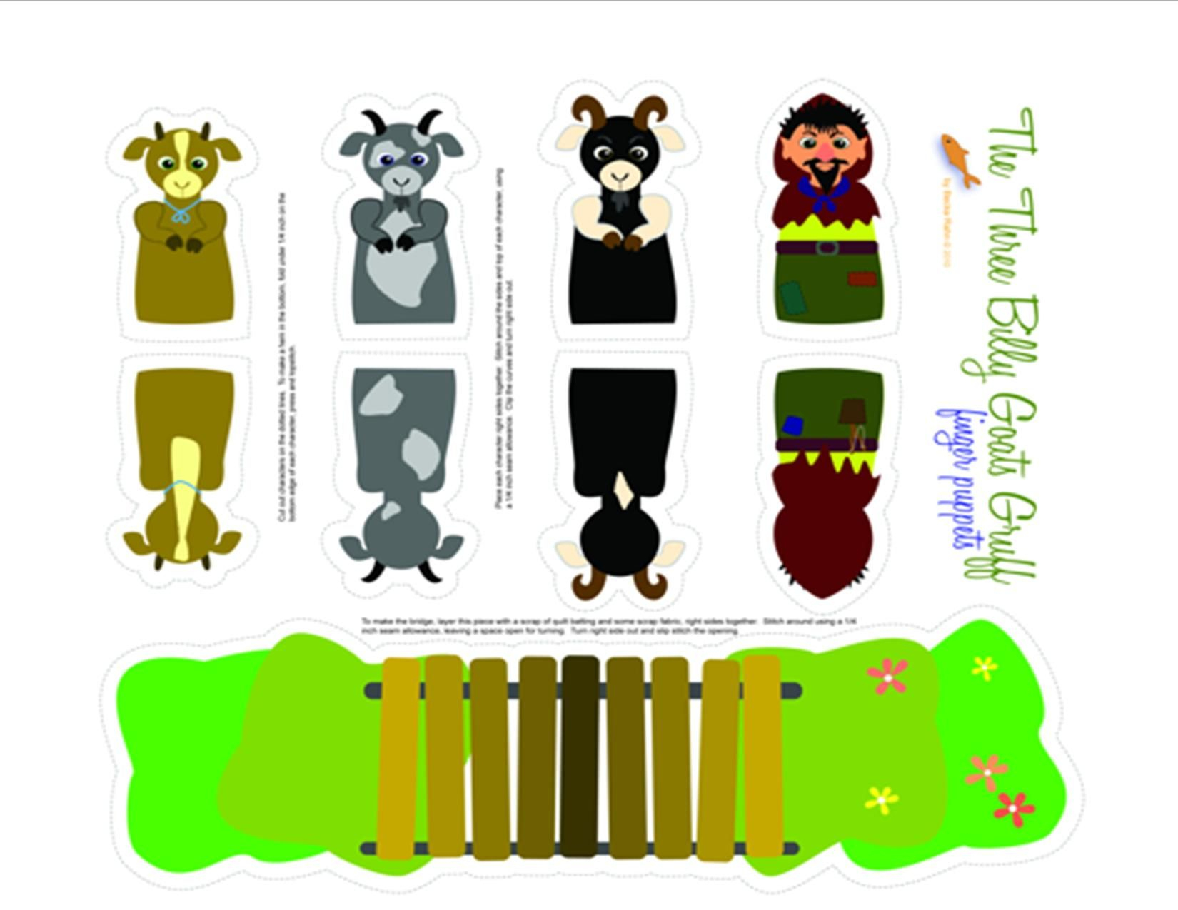 Three Billy Goats Gruff Printable Puppets | Pre-K | Pinterest - Three Billy Goats Gruff Masks Printable Free